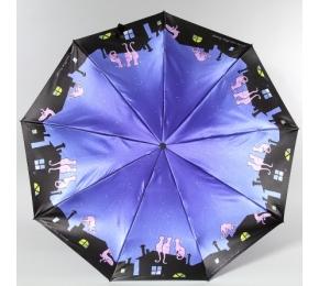 """Зонт Zest 239444-3 Сатин """"Коты на крыше"""""""
